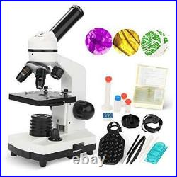 100X-1000X Microscope for Kids and Student, Lab Compound Monocular