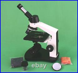 100X-600X Led Lab Monocular Student Compound Microscope W clip stage
