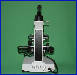100X-800X Led Lab Monocular Compound Medical Microscope W clip stage