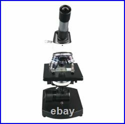 2000x High Power Compound LED Lab Microscope w 100x Oil Objective Fine Focus