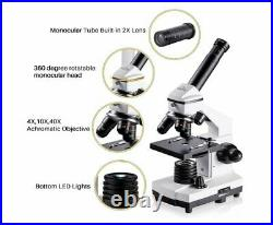 200X-2000X Biological Microscopes Science Students & Adults Laboratory Set