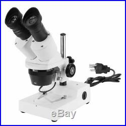 20X to 40X Binocular Lab Compound Microscope with 3D Mechanical Stage LED White