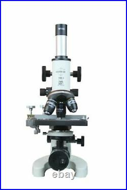 2500x Cordless Vet Lab Compound Microscope w LED Chargeable Battery Lamp