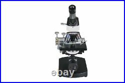 2500x High Power LED Lab Microscope w 100x Oil Fine Focus 3D Stage Slides