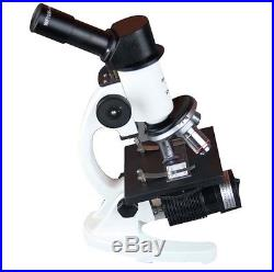 40-1000x High Power Student Compound Biology School Lab LED Cordless Microscope