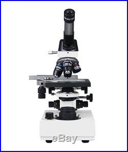 40-2500x Professional Vet Lab Doctor Compound Microscope w Semi PLAN Objectives