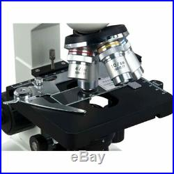 40X-1000X Lab LED Binocular Compound Microscope With Double Layer Mechanical