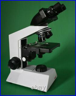 40X-1000X led lab Medical Compound Microscope w Double plate Mechanical stage