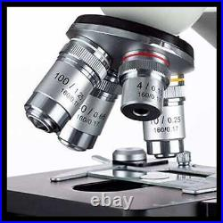 40X 2000X LED Binocular Compound Lab Microscope With Double Layer Mechanical Stage