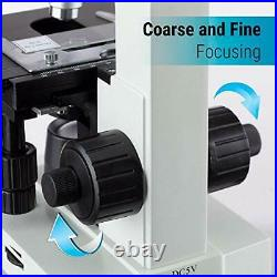 40X-2000X LED Binocular Compound Lab Microscope with Double Layer Mechanical Stag