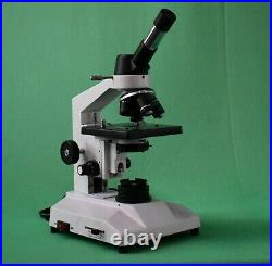 40X-2000x Led Lab Monocular Compound Microscope w fixed Mechanical stage
