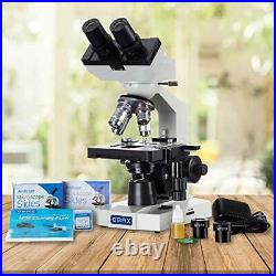 40X-2500X LED Binocular Compound Lab Microscope with Double Layer Mechanical