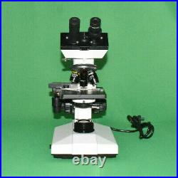 40x-1000 Binocular LED Lab Compound Microscope with Single Layer 3D Stage