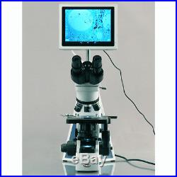 AmScope 40X-1000X Infinity Research Laboratory Compound Microscope with Built-in 5