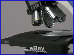 AmScope 40X-1000X Plan Infinity Laboratory Compound Microscope with LCD Touch Pa