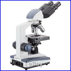 AmScope 40X-2500X LED Lab Binocular Compound Microscope with 3D-Stage