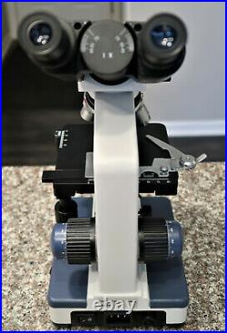 AmScope 40X-2500X Lab Binocular Compound Microscope Tested and Working