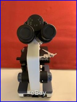 AmScope Binocular Lab Compound Microscope with 3D Mechanical Stage LED