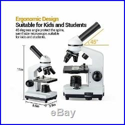 BNISE 100X-1000X Microscope for Kids and Student, Lab Compound Monocular Micr