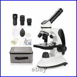 BNISE Microscope for Adults and Kids, 40X-2000X Magnification, Lab Compound M