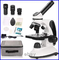 BNISE Microscope for Adults and Kids, 40X-2000X Magnification, Lab Compound for
