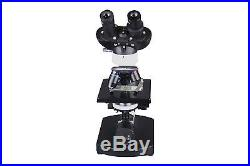 Binocular Compound Cordless LED Medical Lab Microscope w Movable Abbe Condenser