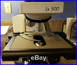 Labomed LX500 laboratory microscope with five objectives and ergonomic head