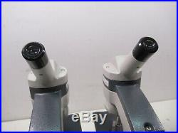 Lot of 2 AO American Optical One-Sixty Student Lab Microscopes Objective Lenses