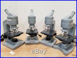 Lot of 4 AO American Optical One-Sixty Monocular Microscopes Student Lab Units