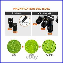 Microscope for Kids, Elikliv Lab Compound Monocular Microscope 40X-1600X with