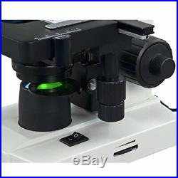 OMAX 40X-2000X Lab Trinocular Biological Compound LED Microscope with Double Lay