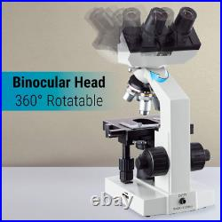 OMAX 40X-2000X Microscope LED Binocular Compound Lab with Double Layer Mechanical