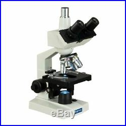 OMAX 40X-2500X LED Trinocular Lab Compound Microscope with Mechanical Stage