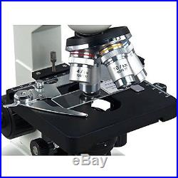 OMAX 40X-2500X Lab Binocular Compound LED Microscope with Double Layer Mechanica