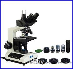 OMAX 40X-2500X Trinocular Lab Compound LED Microscope with Phase Contrast Kit
