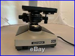 Olympus CH-2 Lab Monocular Microscope 3 objectives Abbe condenser oil immersion