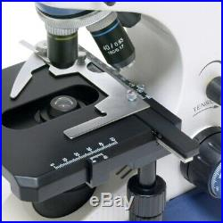 Professional Trinocular Compound Microscope 40-1000X with LED Light fr Lab Clinic