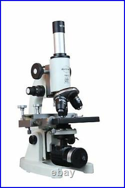 Radical 2500x Cordless Vet Lab Microscope w LED Battery Rechargeable Lamp