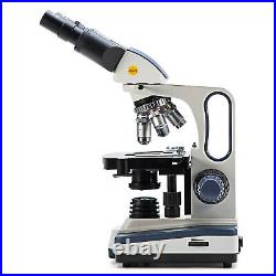 SWIFT 40X-2500X LED Binocular Lab Compound Microscope with 3D Mechanical Stage