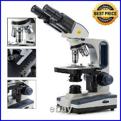 Swift 40X-2500X Binocular Lab Compound Microscope with 3D Mechanical Stage LED