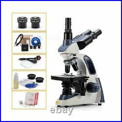 Swift SW380T-EP5R-BSC, Trinocular Compound Lab Microscope, with 5MP Camera and