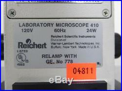 T161515 Reichert MicroStar IV Laboratory Microscope 410 with (3) Objectives