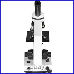 VEVOR 40X-2500X Lab Monocular Compound Microscope with 3D Mech Stage + Slides